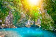 Martvili kanjon i Georgia Royaltyfri Fotografi