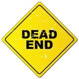 Martwego Kona Drogowy znak ilustracji