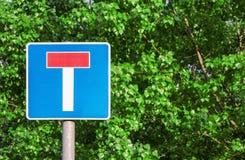 Martwego kona ruchu drogowego znak Obrazy Stock