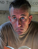 martwiący się kościelny mężczyzna Fotografia Stock