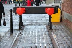 Martwy Koniec na starej linii kolejowej zdjęcia stock