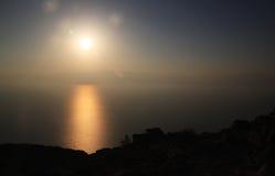 martwy przez wschodem słońca morskim Zdjęcie Royalty Free