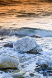 martwy przez wschodem słońca morskim Zdjęcia Stock