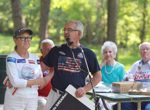 Marty Brown, VP Citizenship Nebraska Taxpayers for Freedom,  speaks at Tea Party Rally Stock Photos