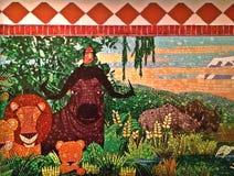 Marty et la peinture murale de jungle (partie sélectionnée) Image libre de droits