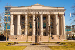 Martynas Mazvydas National Library of Lithuania, Vilnius Royalty Free Stock Photos