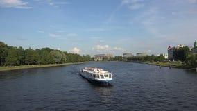 Martynov embankment in St. Petersburg. 4K. stock footage