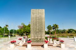 Martyr som är minnes- på Al Shaheed Park i Kuwait City arkivbild