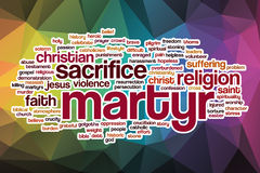Martyr word cloud with abstract background Royalty Free Stock Images