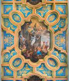 `The Martyrdom of Saint Anastasia` by Michelangelo Cerruti in the Basilica of Sant`Anastasia near the Palatine in Rome, Italy. stock photography