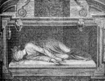 The Martyrdom of Saint Cecilia by Stefano Maderno royalty free illustration