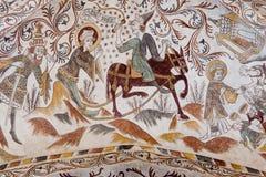 The Martyrdom of Saint Hippolytus. Hippolytus dragged to death behind a horse, Over Dråby church, Denmark, Nov 14, 2016 Stock Photo