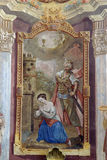 Martyrdom of St. Barbara Stock Images