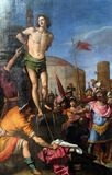 Martyre de saint SebastiAn images stock