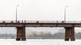 Martyrs Bridge (Pont des martyrs) in Bamako Stock Images