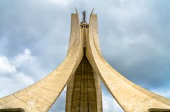 Martyrs Memorial for Heroes killed during the Algerian war of independence. Algiers stock photography