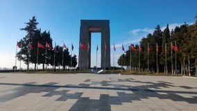 Martyrs Monument. Monument to the martyrs monument in Gallipoli, Çanakkale stock photography