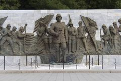 Martyrs Monument. Monument to the martyrs monument in Gallipoli, Çanakkale stock photos
