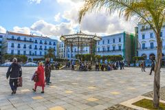 Algiers. Martyrs square in Algiers, the capital of Algeria royalty free stock photos