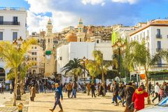 Algiers. Martyrs square in Algiers, the capital of Algeria stock photo