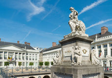 Martyrs square in Brussels Stock Image