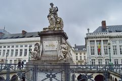 Martyrs` Square in Brussels, Belgium stock photos