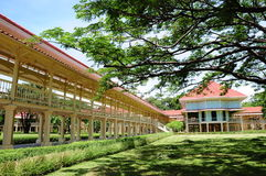 Maruekhathayawan Palace, huahin chaum Stock Photo