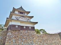 Marugame城堡在Marugame,香川县,日本 图库摄影