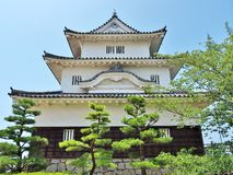 Marugame Castle in Marugame, Kagawa Prefecture, Japan. Stock Images