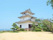 Marugame slott i Marugame, Kagawa Prefecture, Japan Arkivfoto