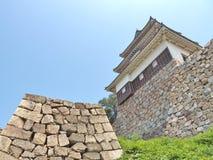 Marugame slott i Marugame, Kagawa Prefecture, Japan Arkivfoton