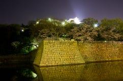 Marugame slott på natten Royaltyfri Bild