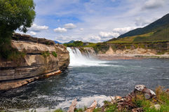 Maruia Falls, West Coast, New Zealand Royalty Free Stock Images