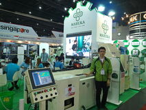Maruka japan in Asiean metallex 2014 ,thailand Royalty Free Stock Photos