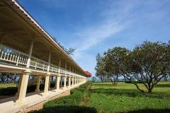 Marukhathaiyawan Palace wooden bridge in Cha-Am Royalty Free Stock Photography