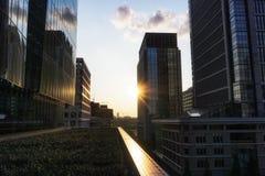 Marunouchi de tibia de vue de coucher du soleil Photo libre de droits
