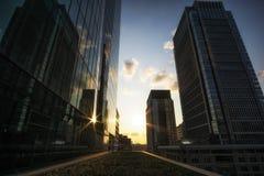 Marunouchi de tibia de vue de coucher du soleil Photo stock