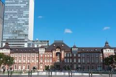 Marunouchi, Tokyo, Giappone - 20 luglio 2018: Costruzione della stazione di Tokyo al tempo crepuscolare fotografia stock libera da diritti