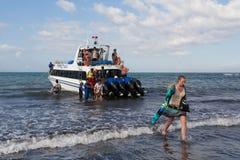 Maruti Duta II Speed Boat Stock Photos