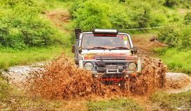 Maruti Gypsy Offroading in the Jungle Royalty Free Stock Photos