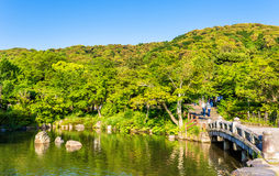 Maruyamapark in Kyoto, Japan Stock Afbeelding