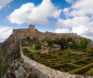 Marvao garden and castle Stock Photo