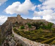 Marvao garden and castle Stock Photo