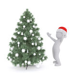 Marvel at the christmas tree Royalty Free Stock Photography