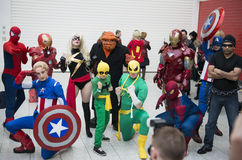 Marvel cosplayers Stock Images