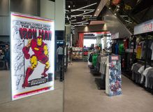 The marvel experience superstore is a retail store for a fan of Marvel Superheroes comics. stock photo