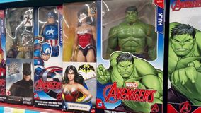 Marvel heros figures stock image