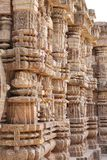 Marvellous look of the intricate carved pillars Royalty Free Stock Photo