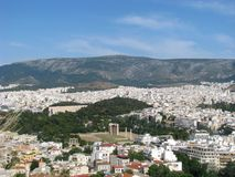 Marvellous sikt från akropol Royaltyfri Fotografi