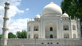 Marvellous Taj Mahal i Agra, Indien stock video
